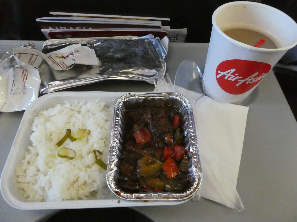 My snack meal on board Air Asia