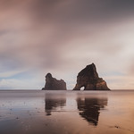 25. Mai 2018 - 12:50 - The stunning sea stacks at Wharariki Beach, located on the northern point of the south island, New Zealand. I could have spent weeks, if not months photographing this beach (but only had about half an hour). Not only is it a massive, expansive beach, it has these stunning sea stacks, some caves at the end, incredible waves, and also an NZ fur seal colony!