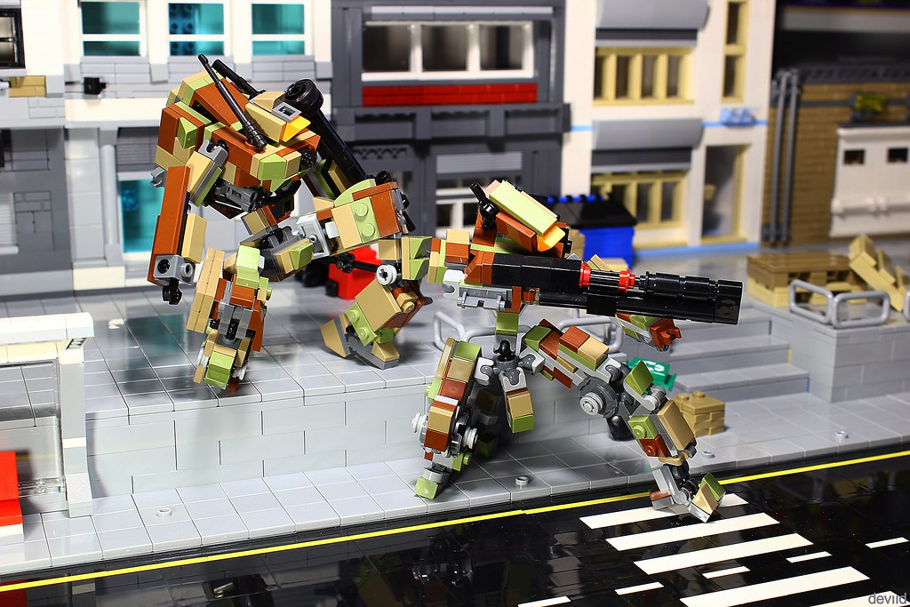 Camo battle suit CM01 and support drone CM02