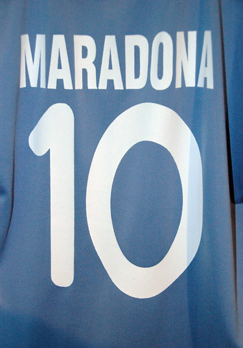Maradona, the great Argentinean football star was always number 10