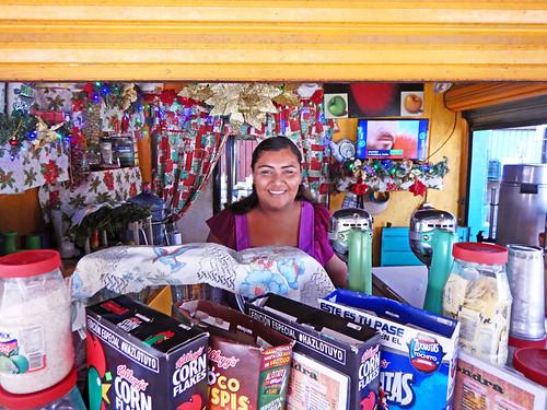 Desayuno with a smile in Marquelia, Mexico