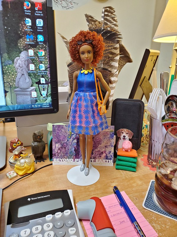 Here with me in the office...I'm finally back after being out for more than a week.  She's good company!  ;>)