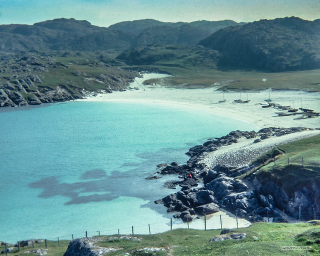One of Sutherland's superlative beaches, Achmelvich Bay.