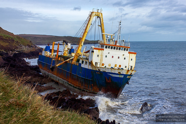 MV Alta Cargo Ship - Ballycotton, Co. Cork, Ireland - Grounded Ghost Ship