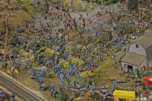 Scale Model Battle Scene Diorama, Florida State Fairgrounds, Tampa, Florida
