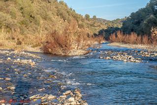 Aiguabarreig per la esquerra el riu Montsant i per la dreta el riu Siurana