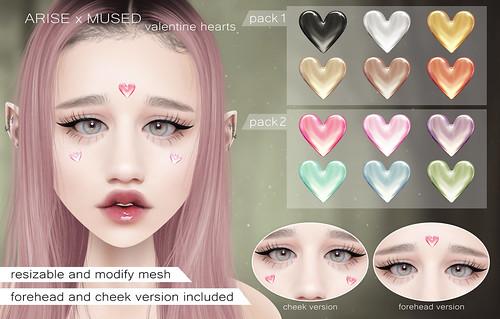 .ARISE. x MUSED Valentine Hearts