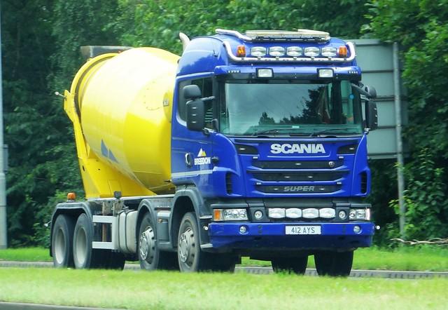 Breedon Aggregates Cement Mixer Scania Super 412 AYS