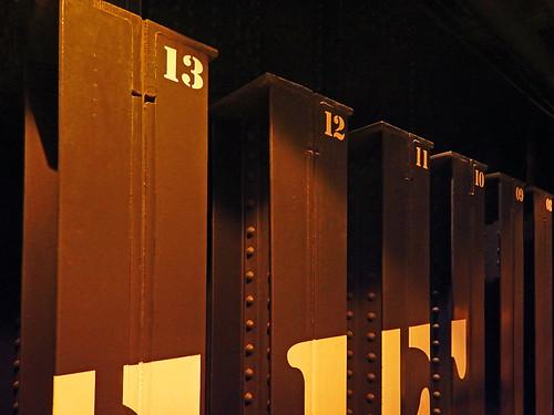 Numbers in the basement of the Monumento de Revolucion in Mexico City