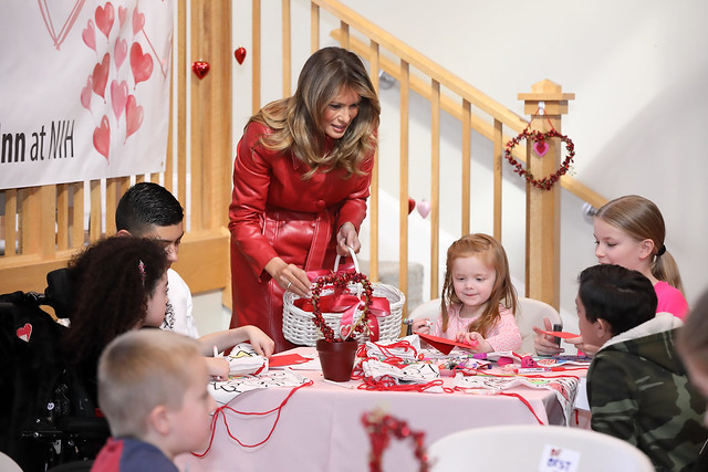 First Lady Melania Trump visits The Inn - Valentine's Day 2020