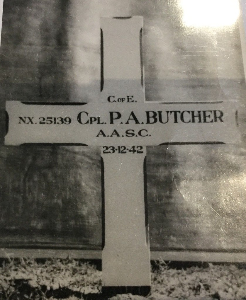 GRAVE OF  CORPORAL PERCY ALLAN BUTCHER - WW2