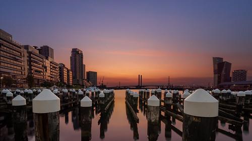 melbourne victoria australia docklands sunset