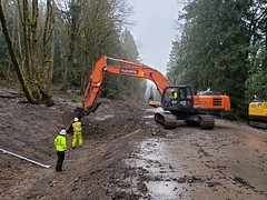 Building a ditch on SR 706