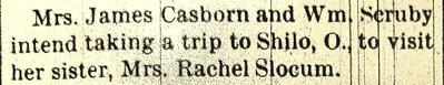 Mary P Casbon visit Rachel Slocum PCV 27Aug1891