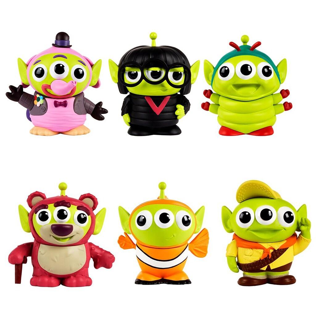 三眼流變裝吸錢之術大發威!! MATTEL「迪士尼-皮克斯變裝三眼怪」(Disney-Pixar Alien Remix) 3 吋可動玩偶多款續作公開!