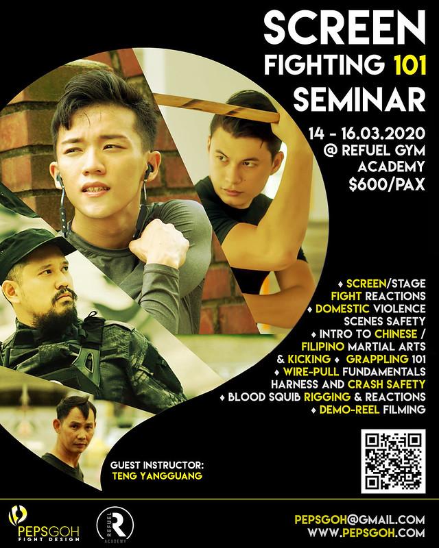 Singapore Screen Fighting Seminar Peps Goh Fight Design
