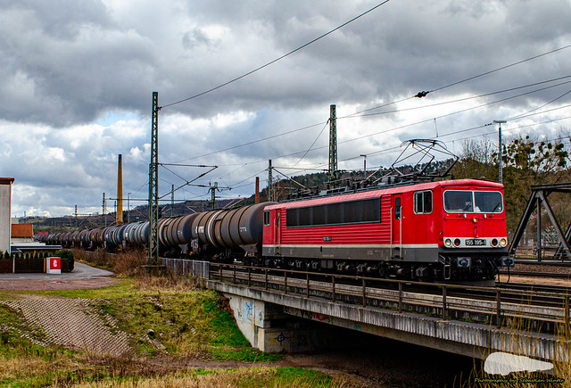 155 195-1 mit Kesselzug durch Eisenach am 18.02.2020