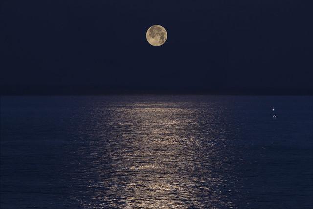 Moon sinking