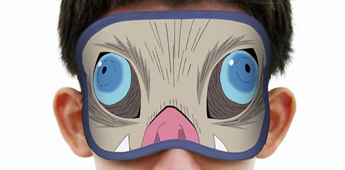 我流 睡覺之呼吸法!COSPA《鬼滅之刃》 竈門炭治郎、嘴平伊之助 雙面眼罩(アイマスク )