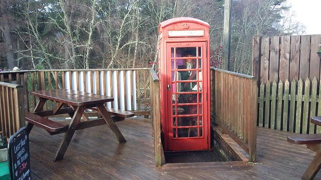 Red Telephone Box, Foyers, Jan 2020