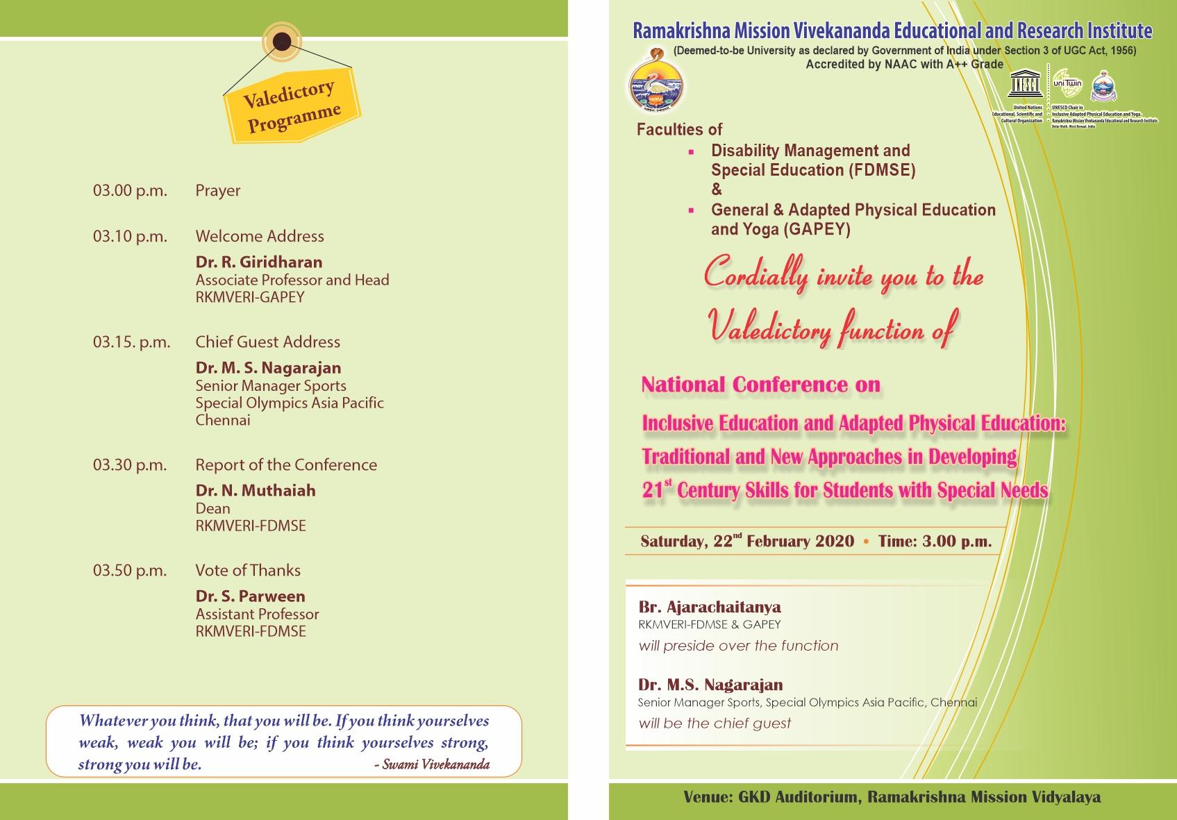 Invitation - National Conference - Feb 2020-b 2