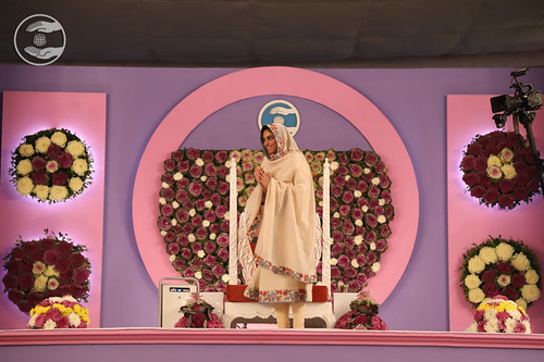 Her Holiness after concluding Samagam