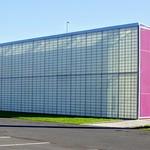 Futuristic office block near Preston Docks