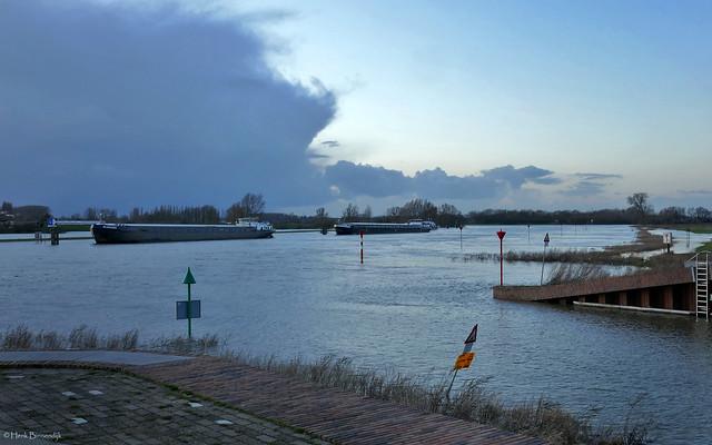 Zutphen: evening at the river IJssel