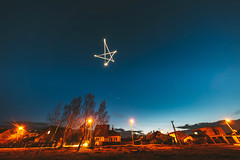 Star | Drone light-painting | Kaunas #49/365