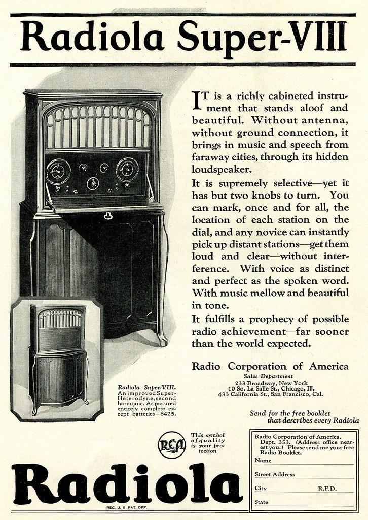 RCA Radiola Super-VIII 1924