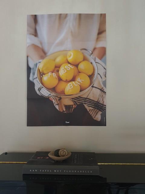 Poster met citroenen