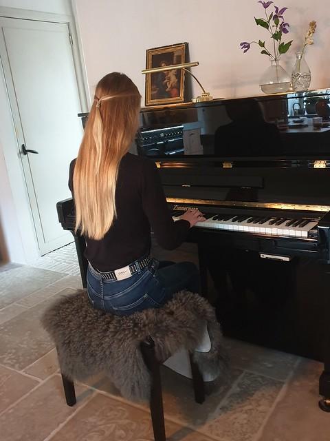 Piano decoratie ideeën landelijke stijl