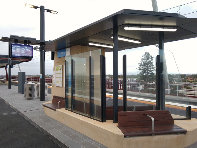 Weather protection at Carrum station