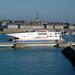 Ferry sortant du port de Saint-Malo