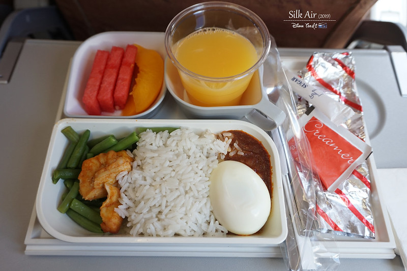 Silk Air In-Flight Meal KK to Singapore Flight