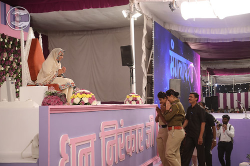 Police officers seeking blessing