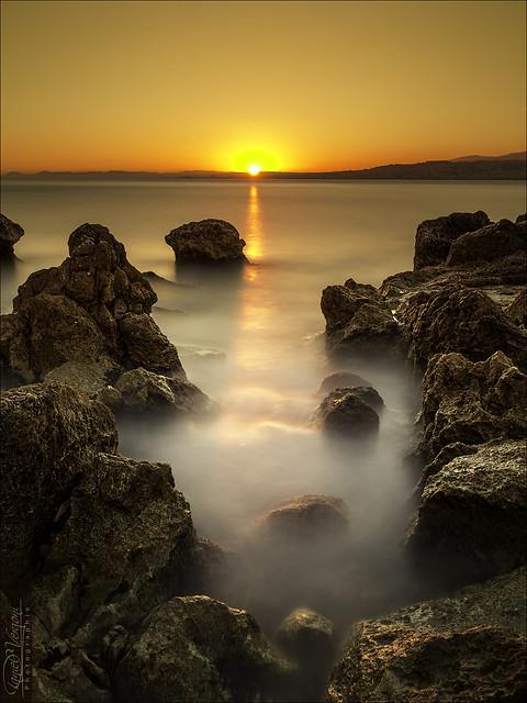 Sunset sur la Baie des Anges