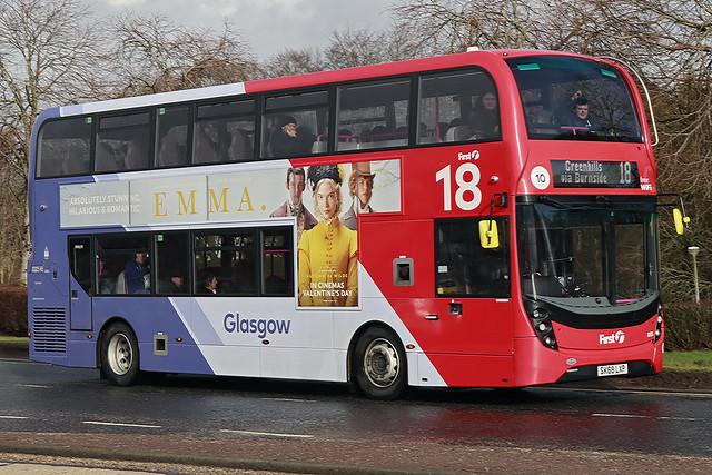 SK68LXP AlexanderDennis Enviro 400MMC   First Glasgow