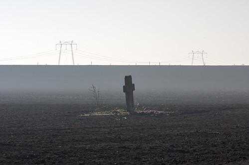 landscape ilfov românia glina morning nature fog cross