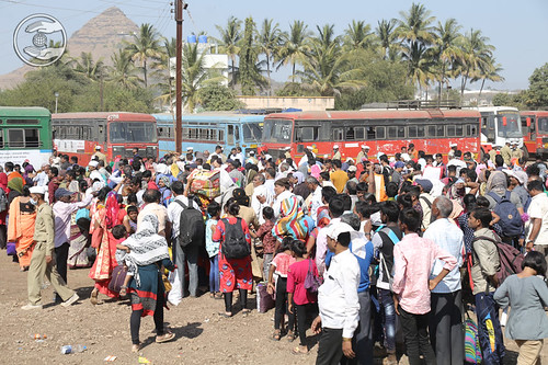 Devotees going back to their hometown
