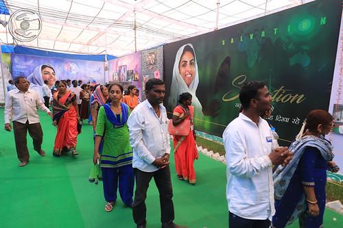 Devotees visiting Exhibition