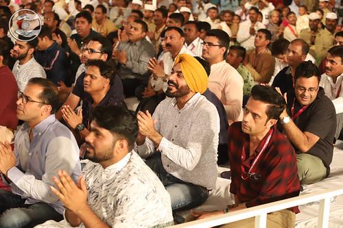 Devotees enjoying devotional song