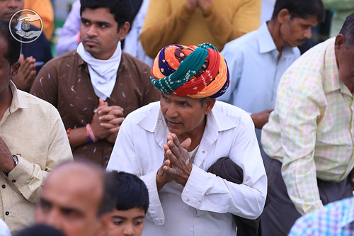 Devotee seeking blessing in Namaskar