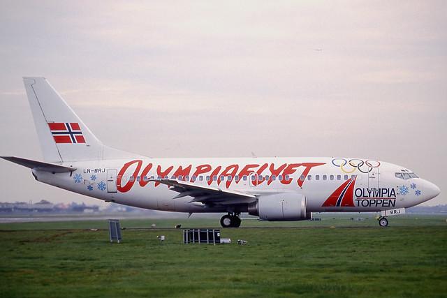 LN-BRJ Braathens 737-500 (LGW/EGKK)