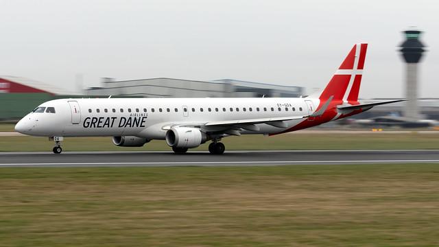 Great Dane OY-GDA ERJ-195LR EGCC 19.02.2020