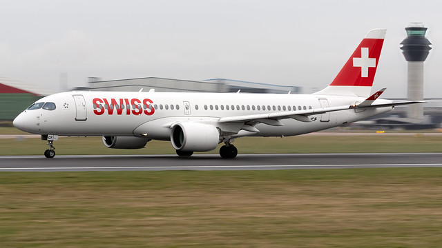 Swiss HB-JCF A220-300 EGCC 19.02.2020