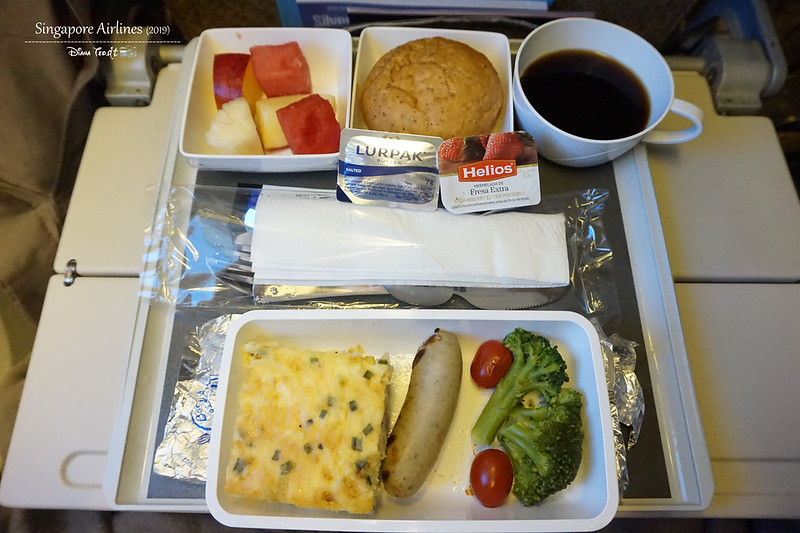 Singapore Airlines Breakfast