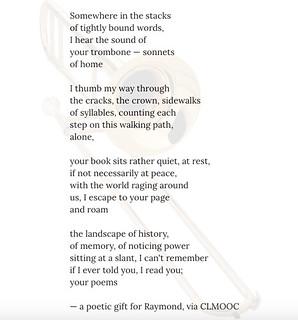 Poem for Raymond CLMOOC