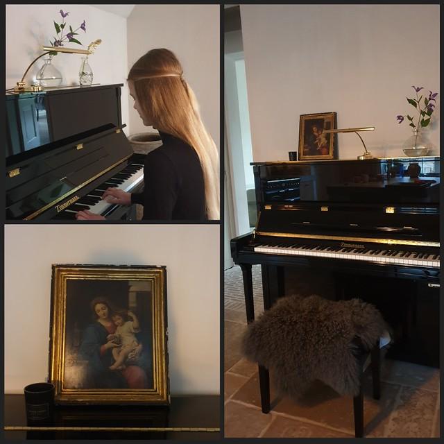 Piano decoreren landelijke stijl