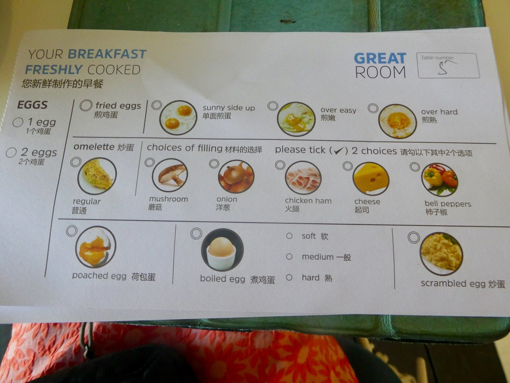 Holiday Inn Express Baruna Bali breakfast menu